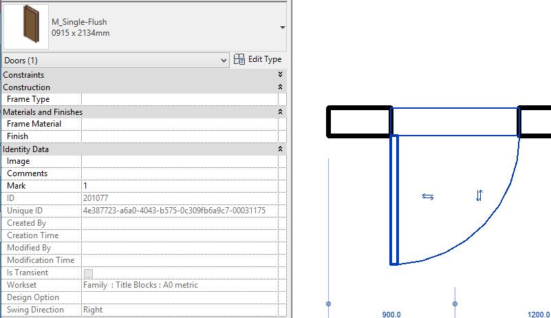 Add Door Parameters